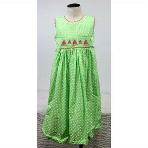 Claire & Charlie Watermelon Dress Smocked Green